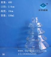 500ml圣诞树玻璃瓶