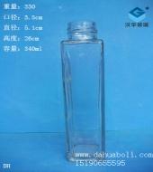 340ml方形饮料玻璃瓶