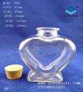350ml心形许愿玻璃瓶