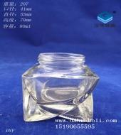 80ml心形膏霜玻璃瓶