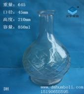 850ml工艺玻璃酒瓶