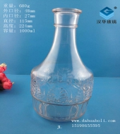 1000ml工艺玻璃酒瓶