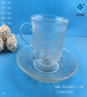 150ml玫瑰玻璃咖啡杯