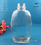 300ml扁玻璃饮料瓶