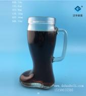 550ml玻璃鞋啤酒把子玻璃杯