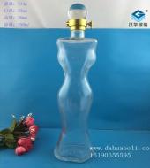 750ml美女工艺玻璃酒瓶