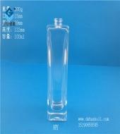 100ml厚底长方形玻璃香水瓶